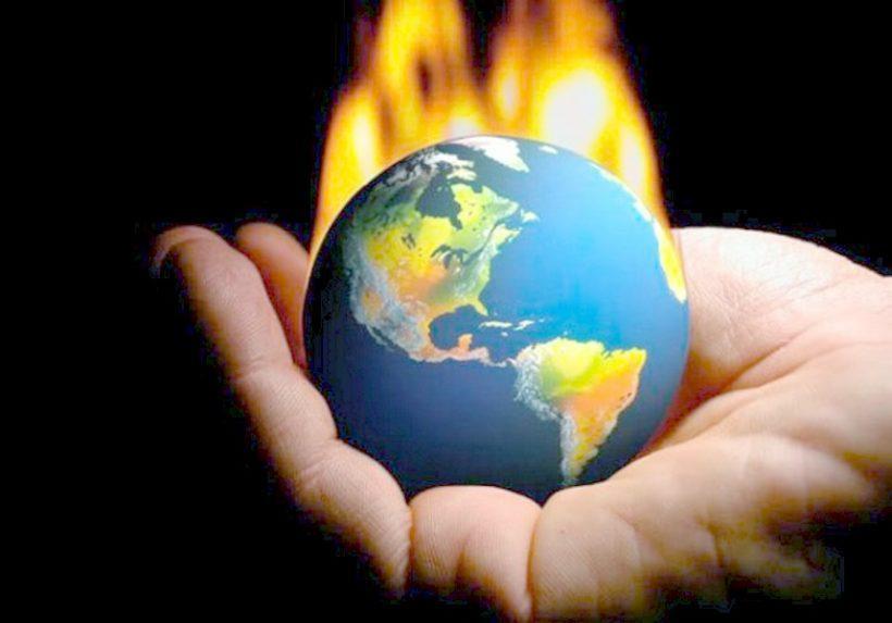 Uomo riscaldamento estinzione