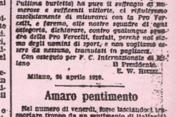 Aprile Inter ProVercelli